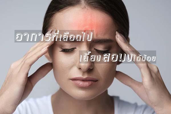 อาการที่เลือดไปเลี้ยงสมองได้น้อย