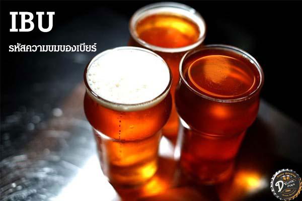IBU รหัสความขมของเบียร์