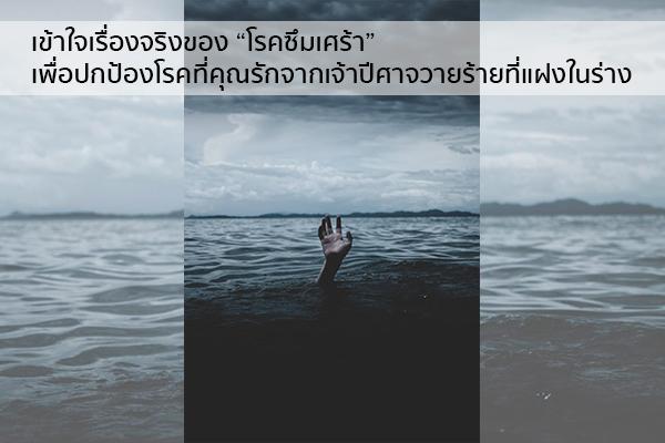 """เข้าใจเรื่องจริงของ """"โรคซึมเศร้า"""" เพื่อปกป้องคนที่คุณรักจากเจ้าปีศาจวายร้ายที่แฝงในร่าง"""